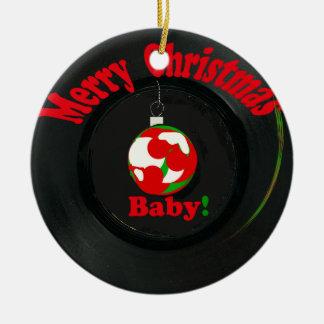 Bebê do Feliz Natal! Ornamento gravado