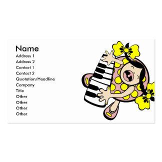 bebê do piano cartão de visita