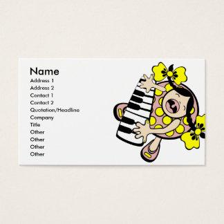 bebê do piano cartão de visitas