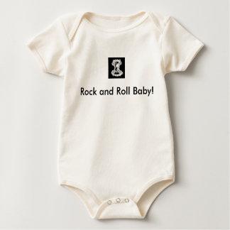 Bebê do rock and roll macacãozinho