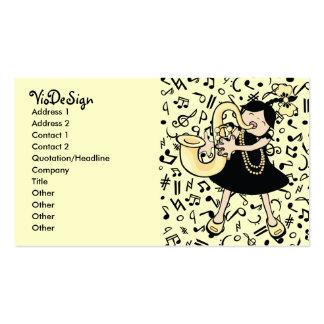 Bebê do saxofone cartão de visita