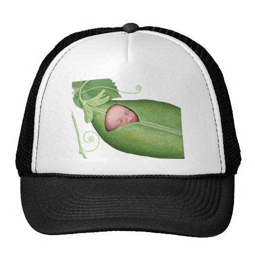 Bebê do vagem de ervilha bonés