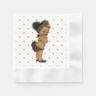 Bebê do vintage do guardanapo de papel das