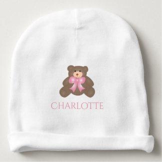 Bebé doce do urso de ursinho da fita bonito do gorro para bebê