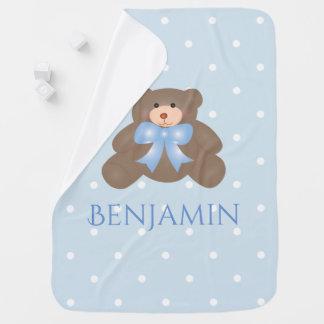 Bebé doce Pastel bonito do urso de ursinho da fita Cobertor Para Bebe