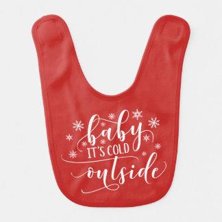 Bebê é babador exterior frio do bebê do feriado |