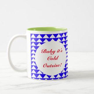 """""""Bebê é caneca de café abstrata do azul frio da"""