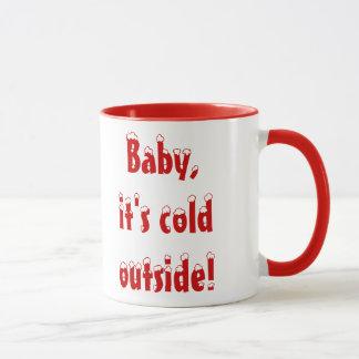 Bebê, é caneca exterior fria