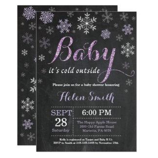 Bebê é cartão exterior frio do chá de fraldas do