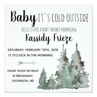 Bebê é convites exteriores frios do chá de fraldas