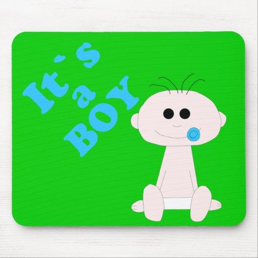 Bebé é um menino Mousepad