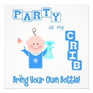 Bebê engraçado convite infantil do costume do aniv