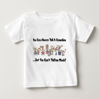 Bebê engraçado da camisa do canadense T T-shirt
