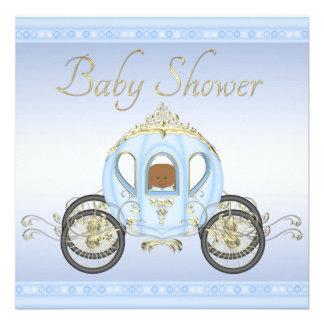 Bebé étnico no chá de fraldas do príncipe convites personalizado