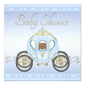 Bebé étnico no chá de fraldas do príncipe convite quadrado 13.35 x 13.35cm