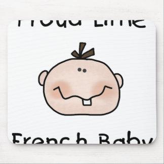 Bebê francês orgulhoso do menino mousepads