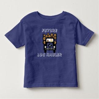 Bebê futuro do alador do registro que conduz o camiseta infantil