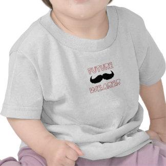 Bebé futuro do portador do bigode tshirts