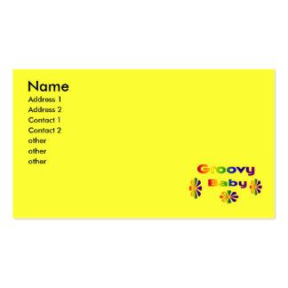bebê groovy cartão de visita
