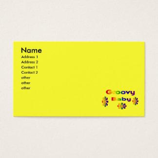 bebê groovy cartão de visitas