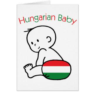 Bebê húngaro cartão