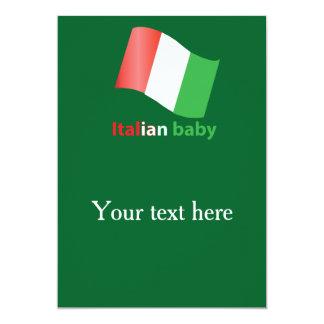 Bebê italiano convite 12.7 x 17.78cm