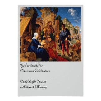 Bebê Jesus do culto dos Magi Convite 12.7 X 17.78cm