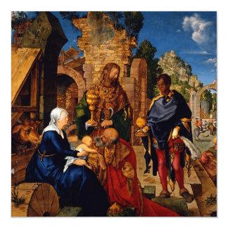 Bebê Jesus do culto dos Magi Convite Quadrado 13.35 X 13.35cm