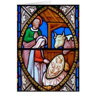 Bebê Jesus e cartão de Natal da Virgem Maria