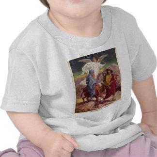 Bebê Jesus em sua maneira a Egipto Camiseta