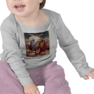 Bebê Jesus em sua maneira a Egipto Camisetas