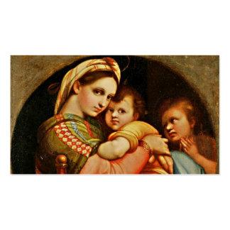 Bebê Jesus nos braços de Mary Cartão De Visita