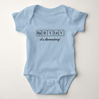 BEBÊ LUV: é elementar!  (mesa periódica) Body Para Bebê