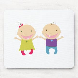 Bebé & menino mouse pad