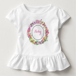 Bebê Monogrammed vestido Ruffled