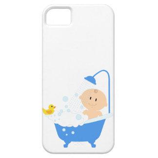 Bebé na banheira - impressão do chá de fraldas capa barely there para iPhone 5