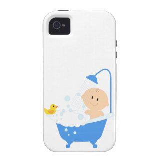 Bebé na banheira - impressão do chá de fraldas capas para iPhone 4/4S