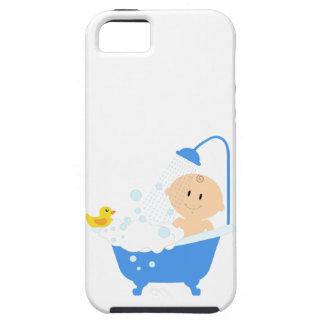 Bebé na banheira - impressão do chá de fraldas capas para iPhone 5