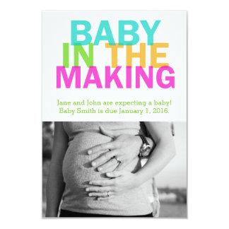 BEBÊ no anúncio da gravidez do FAZER Convite 8.89 X 12.7cm