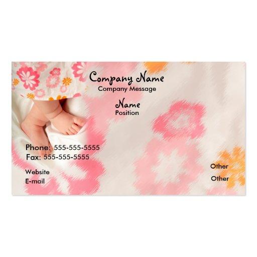Bebê no rosa modelos cartão de visita