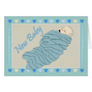 Bebé novo cartão comemorativo