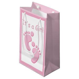 Bebê novo SGB dos pés pequenos do bebé Sacola Para Presentes Pequena