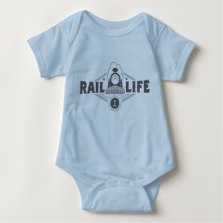 Bebê Onsie de Life™ do trilho T-shirt