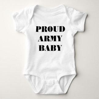 Bebê orgulhoso do exército do Creeper infantil Camisetas