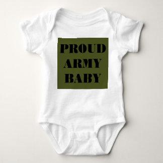 Bebê orgulhoso do exército do Creeper infantil Tshirts