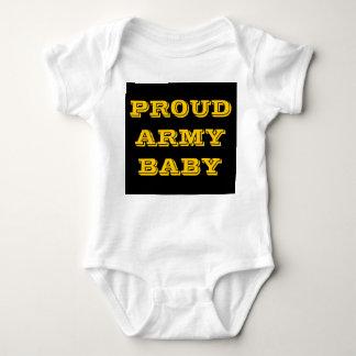 Bebê orgulhoso do exército do Creeper infantil Camiseta