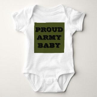 Bebê orgulhoso do exército do Creeper infantil T-shirt