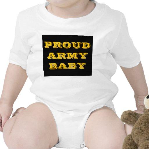 Bebê orgulhoso do exército do Creeper infantil Macacões