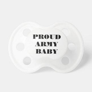 Bebê orgulhoso do exército do Pacifier Chupeta