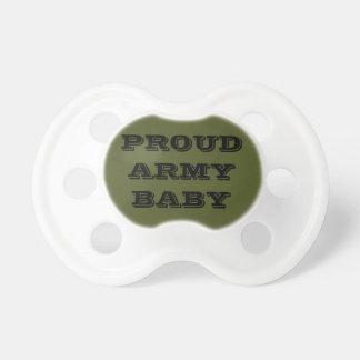 Bebê orgulhoso do exército do Pacifier Chupeta De Bebê